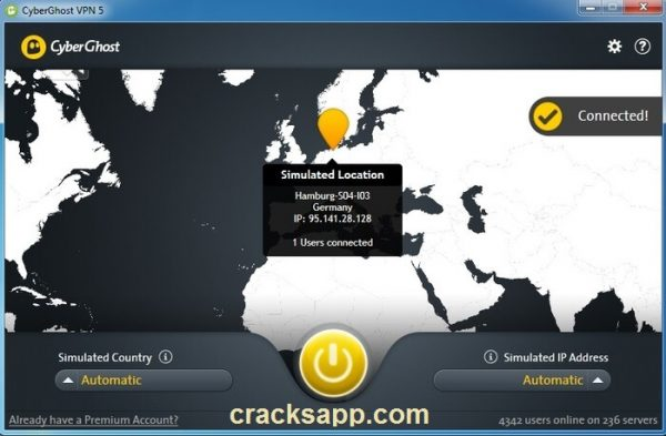 CyberGhost VPN 5 Premium Crack with Serial Key Free Download