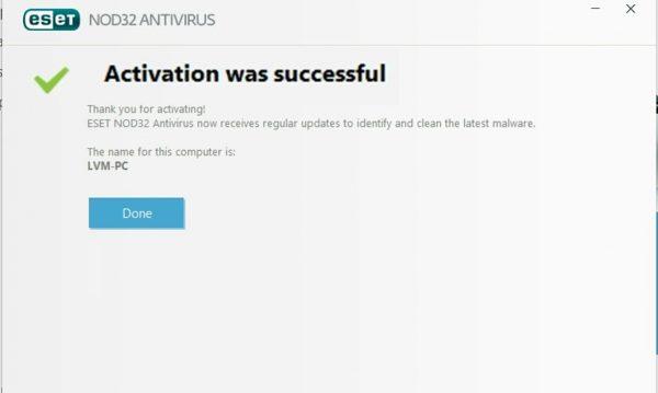 ESET Nod32 Antivirus 10 Username and Password