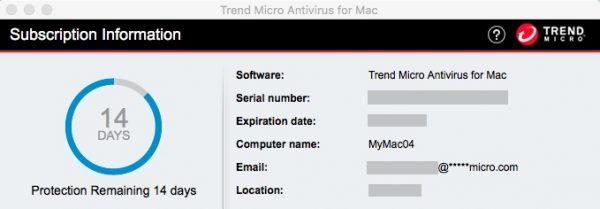 Trend Micro Antivirus for Mac Serial Number
